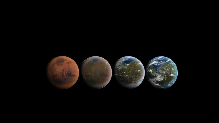SpaceX's images of the terraforming of Mars. Image: SpaceX