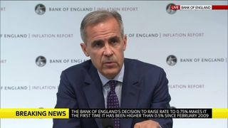 Mark Carney, Governor Of The Bank Of England  Bank of England raises interest rates to 0.75% a44cdef085449a96d85b50f9aa23eb6d26275a185a2bf24a8579083d33299efe 4378354