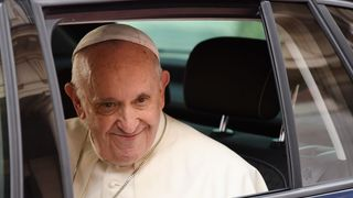 The Pope arrived at Dublin Castle in a modest Skoda car  Words are not enough on abuse, even if they are swear words skynews pope ireland 4400617