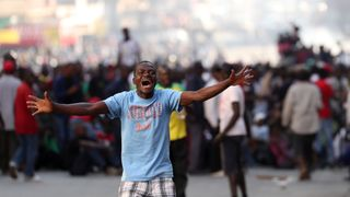 Movement for Democratic Change protesters took to the streets of Harare after the parliamentary election result