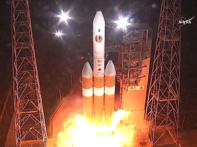NASA launches space probe to study the sun.