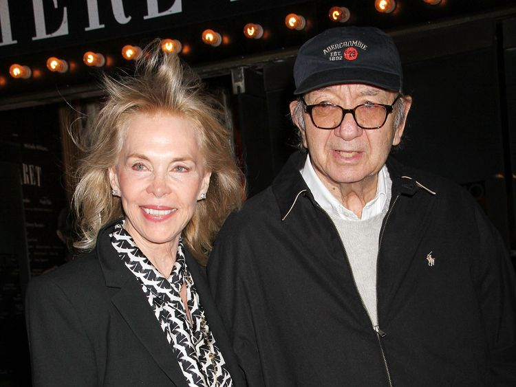 Neil Simon with his wife Elaine Joyce in 2014, who he is survived by