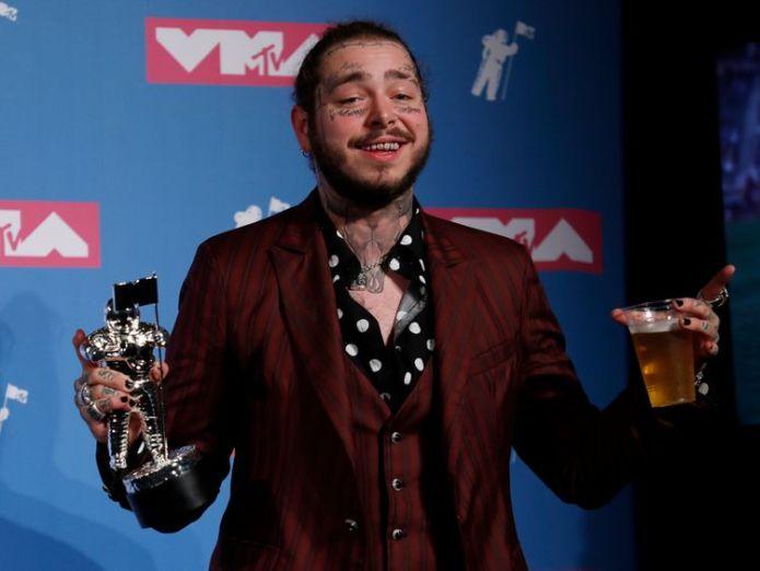 VMAS 2018  Key winners from star-studded ceremony skynews post malone vma 4396264