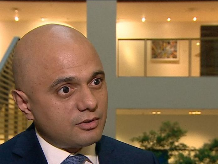 Home Secretary Sajid Javid MP thanks the emergency services and says his thoughts are with the injured, following the car attack.  New visas for non-EU migrants to plug fruit-picking shortfall skynews sajid javid westminster terror 4390158