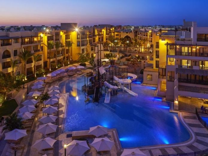 Steigenberger Aqua Magic Hotel in Hurghada. Pic: Steigenberger  Cause of Egypt hotel couple's deaths to be confirmed as post-mortems begin skynews steigenberger aqua magic 4399430