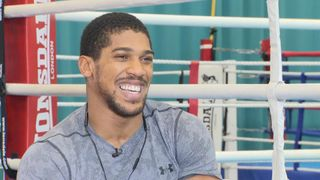 Anthony Joshua interviewed by Jacquie Beltrao  Brit 'ready to end opponent's career' to defend heavyweight titles skynews anthony joshua interview beltrao 4407513