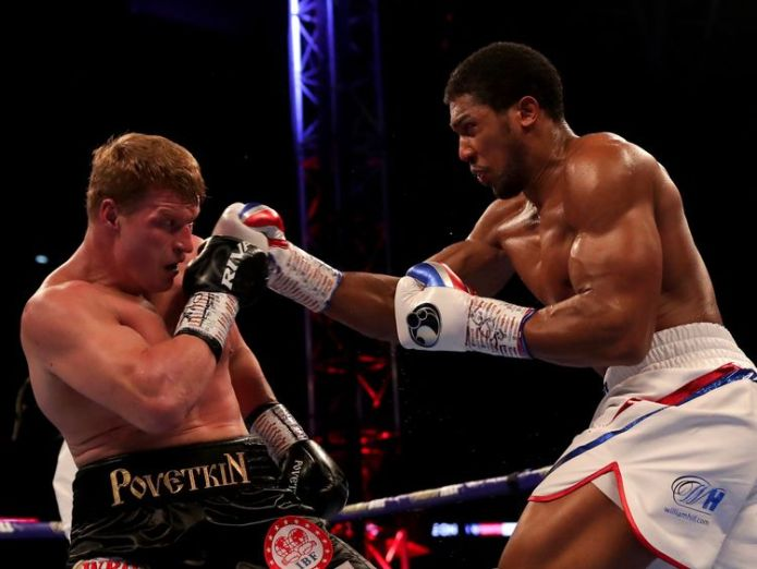 Anthony Joshua lands on Alexander Povetkin  Anthony Joshua retains heavyweight titles with win over Alexander Povetkin anthony joshua alexander povetkin 4430471
