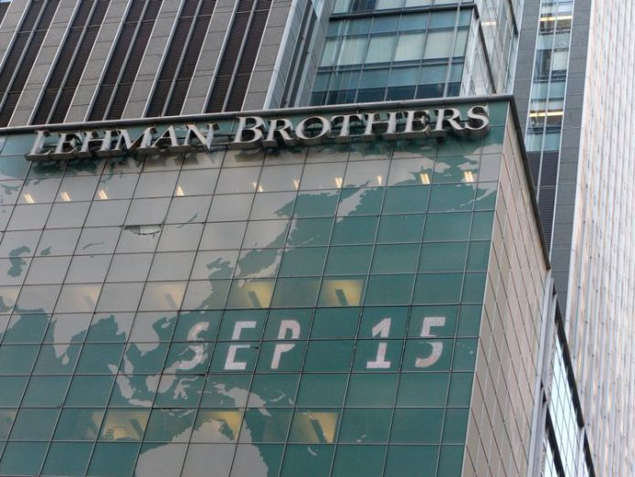 The Lehman Brothers building - pictured in New York on September 15 2008   Next financial crisis 'has begun and will be worse than 2008 crash,' economists warn lehman brothers financial crisis 4420583
