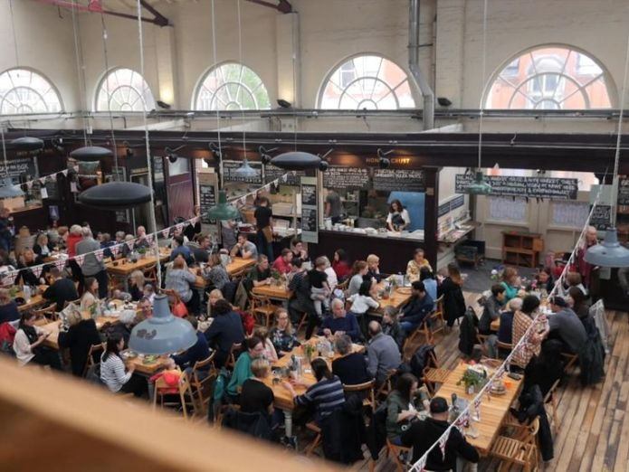 The market is packed at lunchtime - and often even earlier  How foodie culture could save the high street skynews altrincham market 4429263
