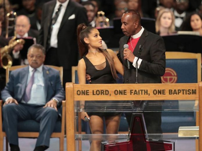 The bishop has apologised for how he touched Ariana Grande after her performance  'It's not about the way that I meant it' skynews ariana grande grope 4407524