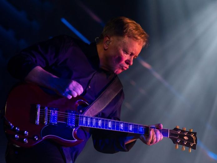 Bernard Sumner performing in May  'Children abandoned over mental health' skynews bernard sumner new order 4426968