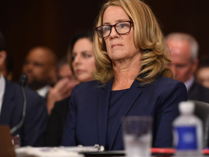 Christine Blasey Ford, the woman accusing Supreme Court nominee Brett Kavanaugh of sexually assaulting her at a party 36 years ago  FBI finds 'no hint of misconduct' by Kavanaugh, Senate judiciary chair says skynews christine blasey ford 4435345