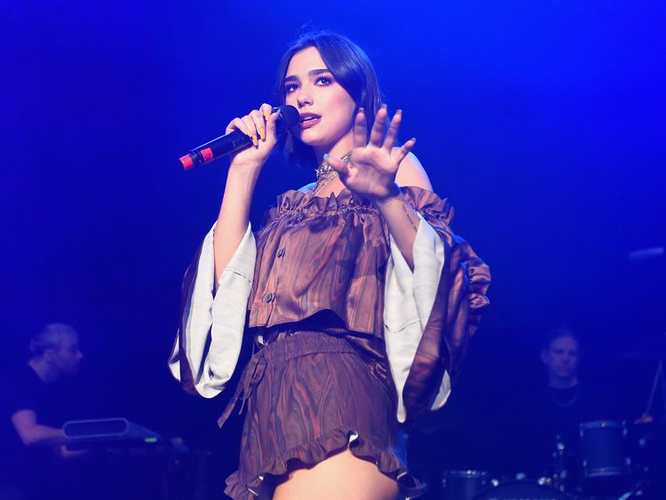 Dua Lipa said she was 'proud' of her fans. File pic
