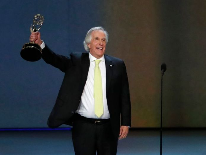 70th Primetime Emmy Awards - Show - Los Angeles, California, U.S., 17/09/2018 - Henry Winkler for Barry wins the Emmy for Outstanding Supporting Actor in a Comedy series. REUTERS/Mario Anzuoni
