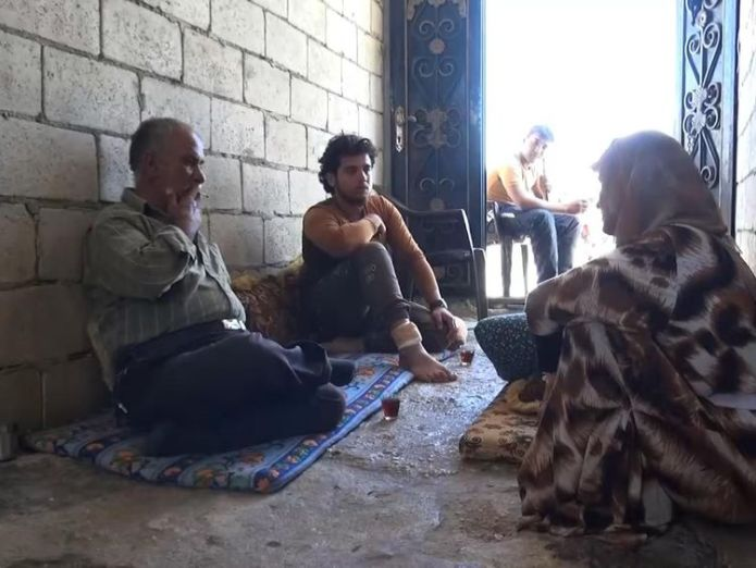 Haleem Tamro's family now lives in a derelict building  Fears of humanitarian crisis mount as Syrians flee homes skynews idlib syria 4418100