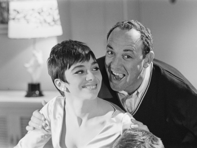 Jacqueline Pearce filming the comedy 'Don't Raise The Bridge, Lower The River' in 1967