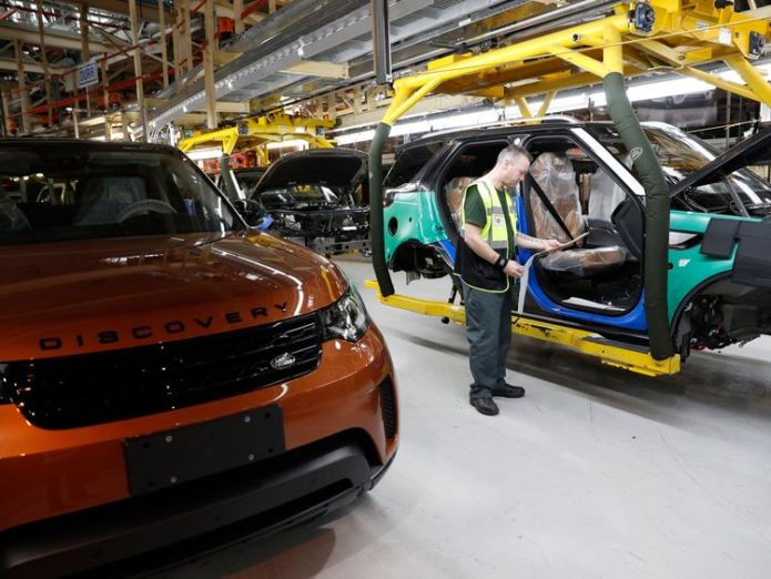 JLR's UK plants, including this one in Solihull, employ 40,000 people  'No-deal' Brexit could cost £60m a day, Jaguar boss warns skynews jaguar land rover solihull 4417882