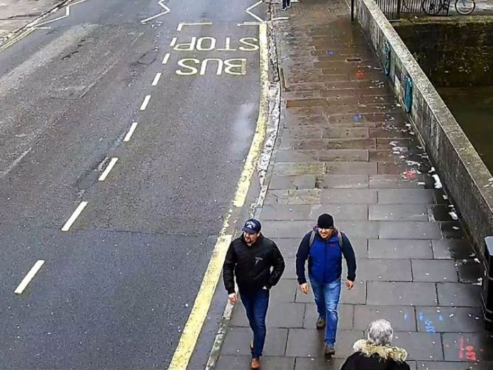 CCTV6 = image of both suspects on Fisherton Road, Salisbury at 13:05hrs on 04 March 2018  Second Russian suspect in Skripal poisoning named as Dr Alexander Mishkin skynews novichok suspects salisbury town 4411976