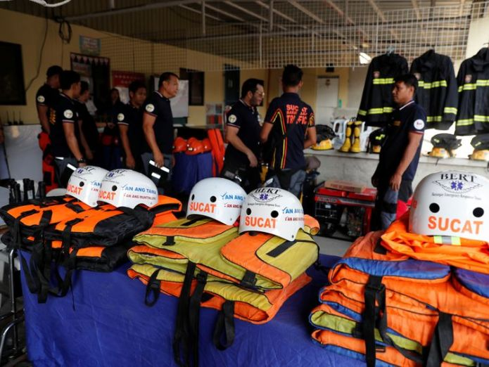 Rescuers on the island of Luzon are ready for the super typhoon's arrival   'Super typhoon' Mangkhut set to hammer the Philippines skynews typhoon mangkhut philippines 4420155