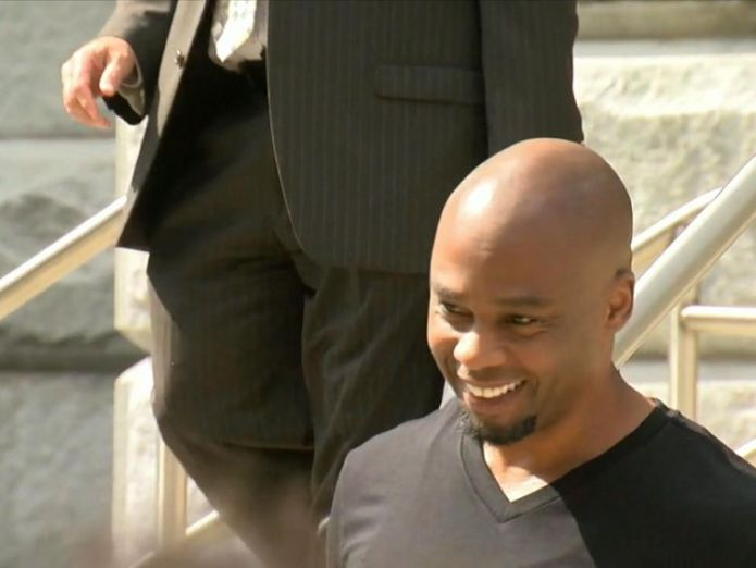 Valentino Dixon has been freed after serving 27 years in jail for a murder he did not commit. Pic: ABC  Golf artist wrongly convicted of murder freed after 27 years in US jail skynews valentino dixon golf artist 4427107