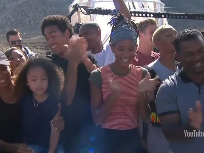 His family and friends cheered him on  Will Smith celebrates 50th birthday with daring bungee jump out of helicopter skynews will smith arizona 4433670