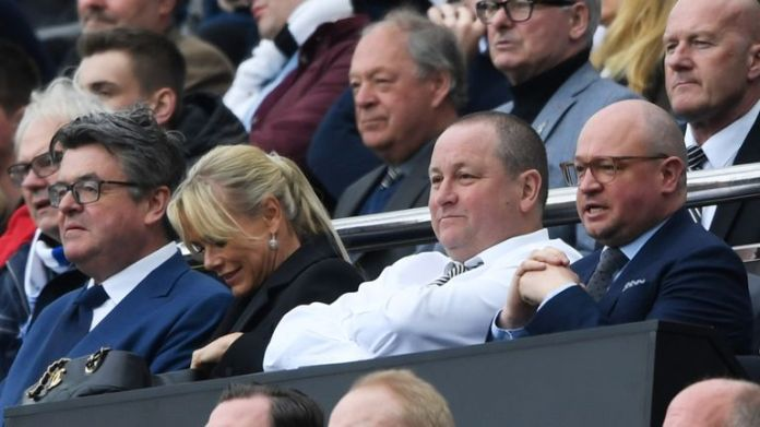 Mike Ashley watches Newcastle United
