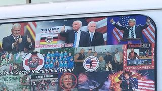 The suspect's van was covered in pro-Trump stickers