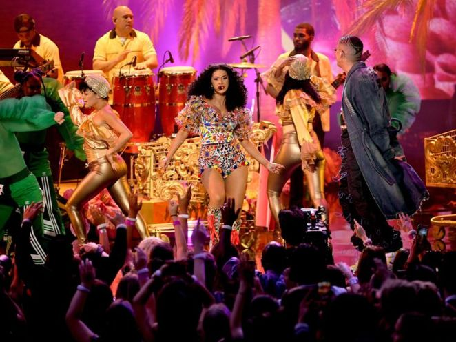 Cardi B was among the winners at the 2018 American Music Awards at Microsoft Theater on October 9 2018 in Los Angeles, California