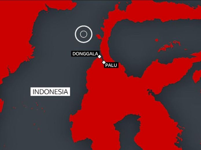 The earthquake off Sulawesi island triggered a tsunami which hit Palu and Donggala  UK to send aid as Indonesia quake and tsunami victims beg for help skynews indonesia quake 4439364