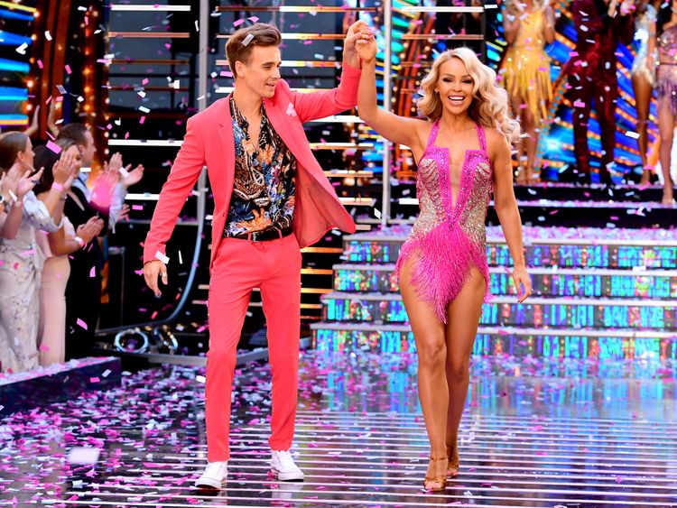 Katie Piper and fellow Strictly Come Dancing contestant Joe Sugg