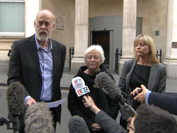 Ken Orchard said he would continue to fight for justice for his son