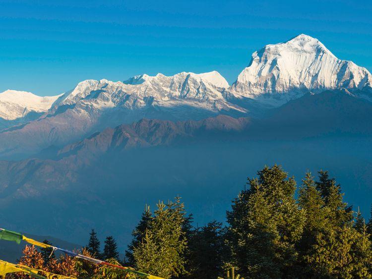 Mont Gurja, dans la chaîne du Dhaulagiri au Népal