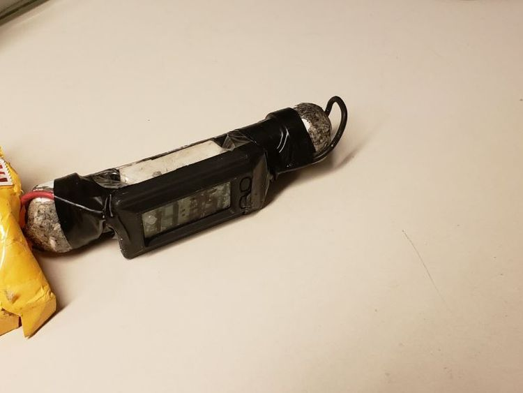 One of the bombs recovered by New York police