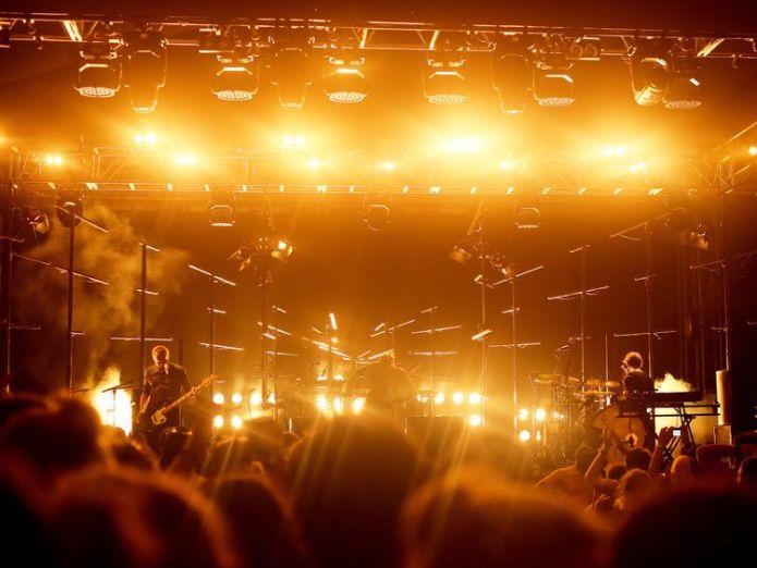 Sigur Ros at the 2017 Hangout Music Festival in Alabama  Sigur Ros drummer Orri Pall Dyrason quits after rape allegation skynews sigur ros hangout music festival 4440403