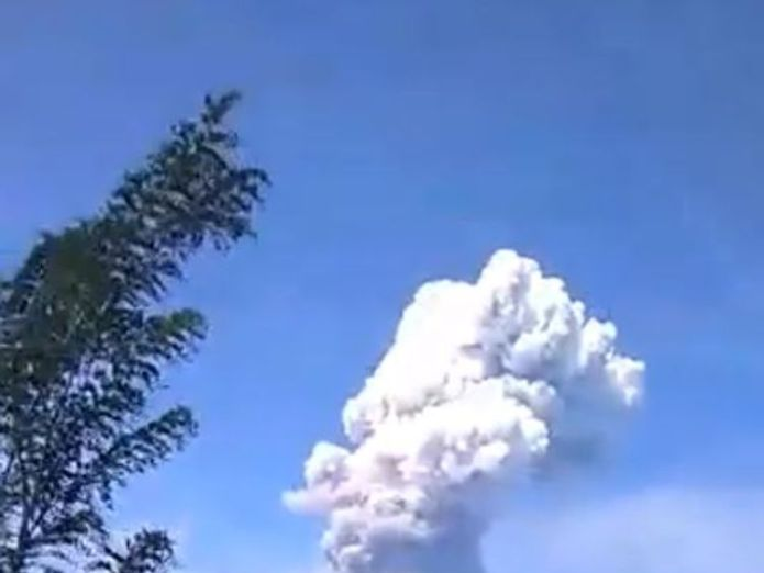 A volcano has erupted on the Indonesian island of Sualwesi.  Volcano erupts on quake-hit Indonesia island skynews sulawesi volcano soputan 4441397
