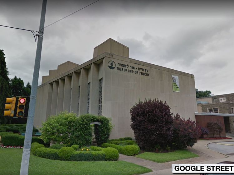 The shooting happened at or near The Tree of Life Congregation Synagogue in Pittsburgh.