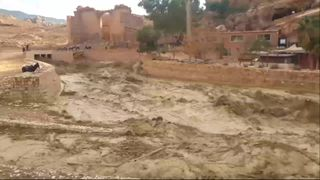 Jordan has once again been hit by heavy floods. Pic: AHMAD ATWAH JORDANIAN TOUR GUIDE  Flash flooding hits historic Jordan city of Petra two weeks after school children die skynews jordan floods 4481793