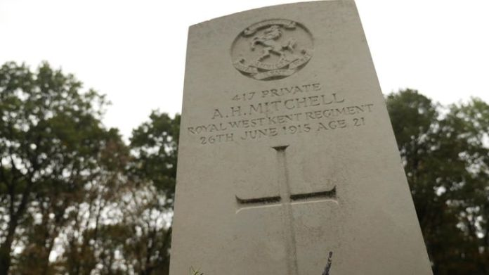 Augustus Holland Mitchell enlisted in to the army in Tonbridge, Kent. He was assigned to the Queen's own (Royal West Kent) Regiment and given regimental number G/417.  The village that brought its fallen soldiers back to life skynews augustus ww1 4477969