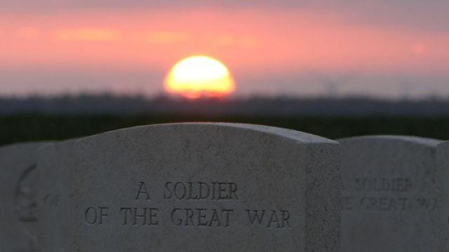 Sky News grabs of WW1 memorial in france