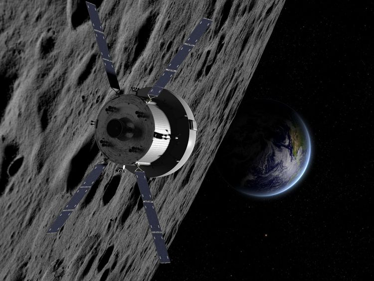 An artist's impression of Airbus's Service Module for the Orion space project. Pic: Airbus/NASA