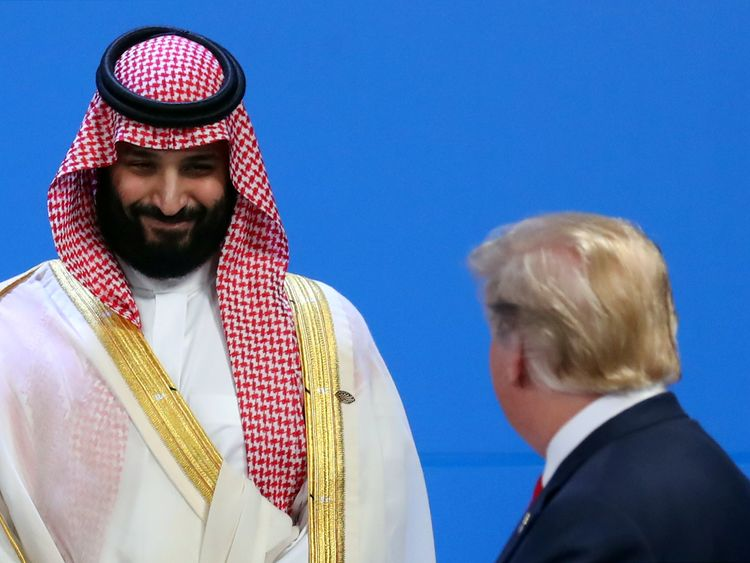 The Saudi crown prince and Mr Trump are said to have had a friendly meeting