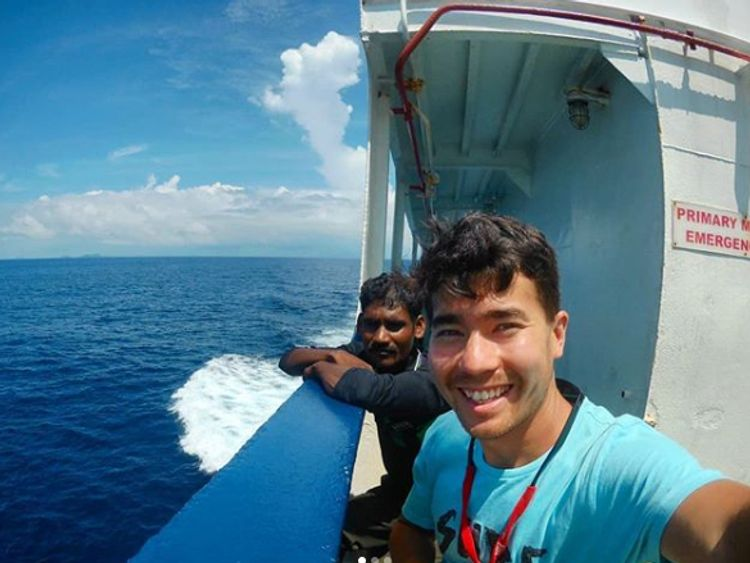 An instagram selfie by John Allen Chau, taken on his most recent trip to India