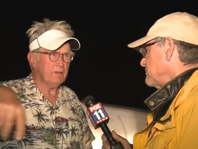 Martin Sheen speaks to Fox 11, telling them he and his family are fine during the fires in California. Pic: Fox News 11  Eleven die in California fires after more bodies found skynews martin sheen fox 11 4482634