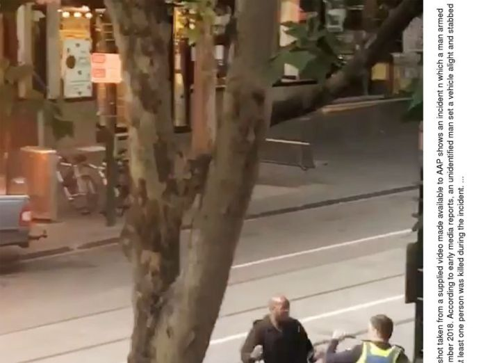 A man armed with a knife attacked several people on Bourke Street in Melbourne  Man killed in Melbourne terror attack was founder of city's coffee culture skynews melbourne stabbing 4481312