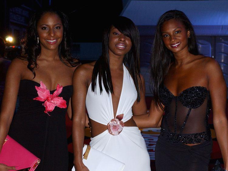 Mis-teeq arrive at the Brit Awards 2004 - L-R: Su-Elise Nash, Sabrina Washington and Alesha Dixon,