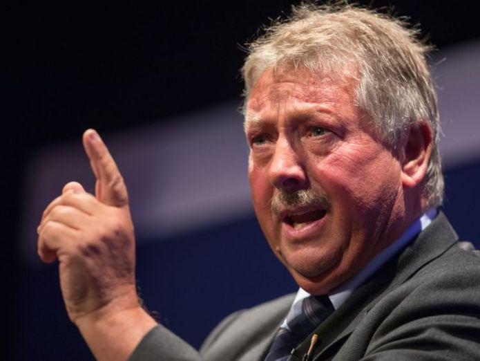 DUP politician Sammy Wilson  Theresa May faces rebellion threat over EU fishing 'demand' skynews sammy wilson dup mp 4481074
