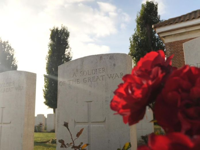 Sky News grabs of WW1 memorial in france  Visiting my family's war graves has been invaluable skynews ww1 france 4477900