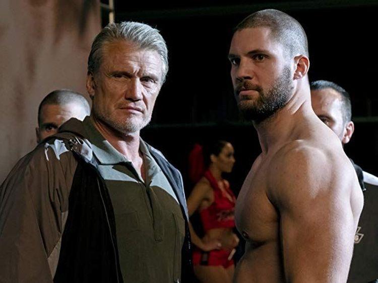 Dolph Lundgren and Florian Munteaunu in Creed II