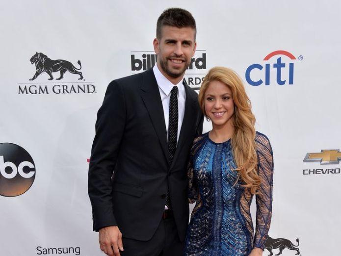 Shakira is with Spanish defender Gerard Pique