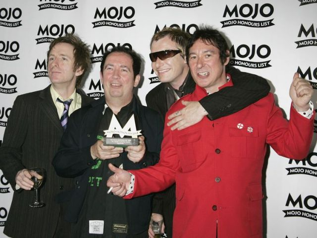 Danny Farran (L), Pete Shelley, Steve Garvey, Steve Diggle of The Buzzcocks in 2006